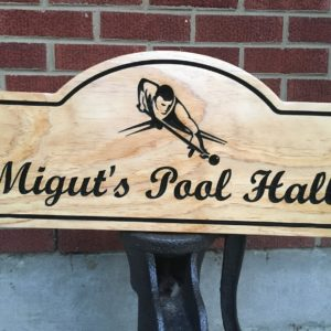 Pool/Billiards or Game Room Personalized Sign