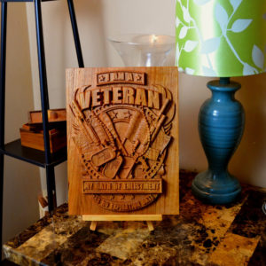 Military 'I Am A Veteran' Wooden Sign