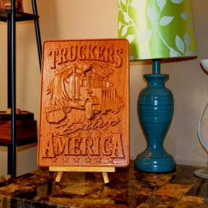 Carved Wooden Sign