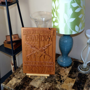 3D CNC Wood Carved Sign for sale