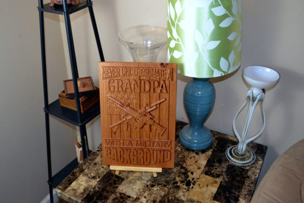 3D CNC Wood Carved Sign for sale