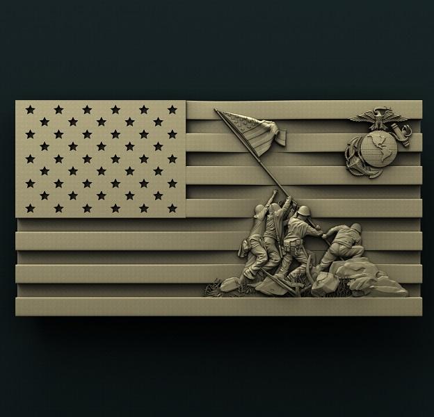 0436. Iwo Jima Flag