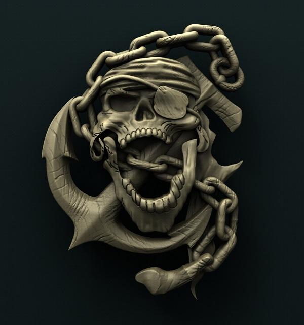 0539. Skull Anchor