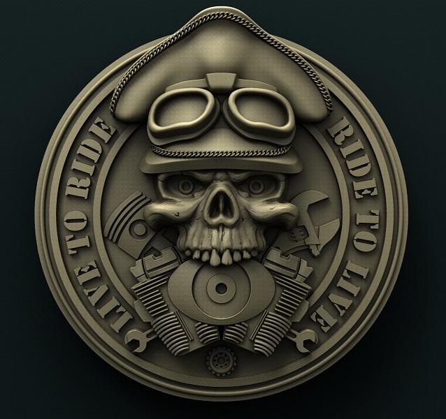 0612. Biker Medallion