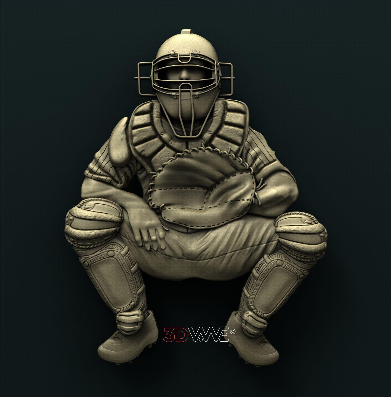 0736 Baseball Catcher
