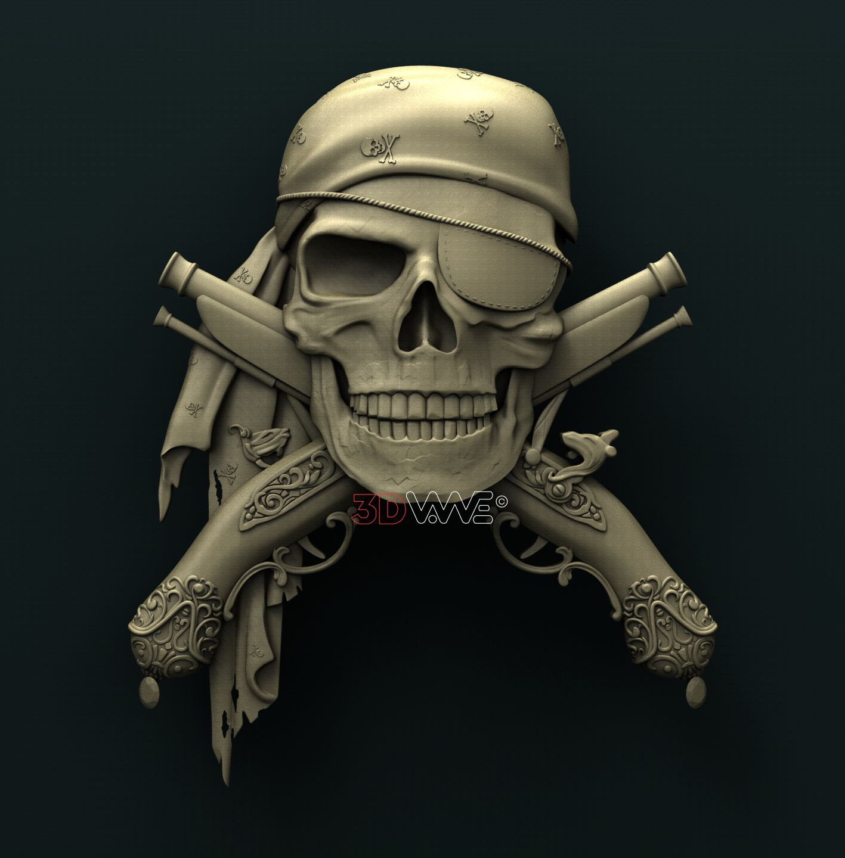 0742 Pirate Skull