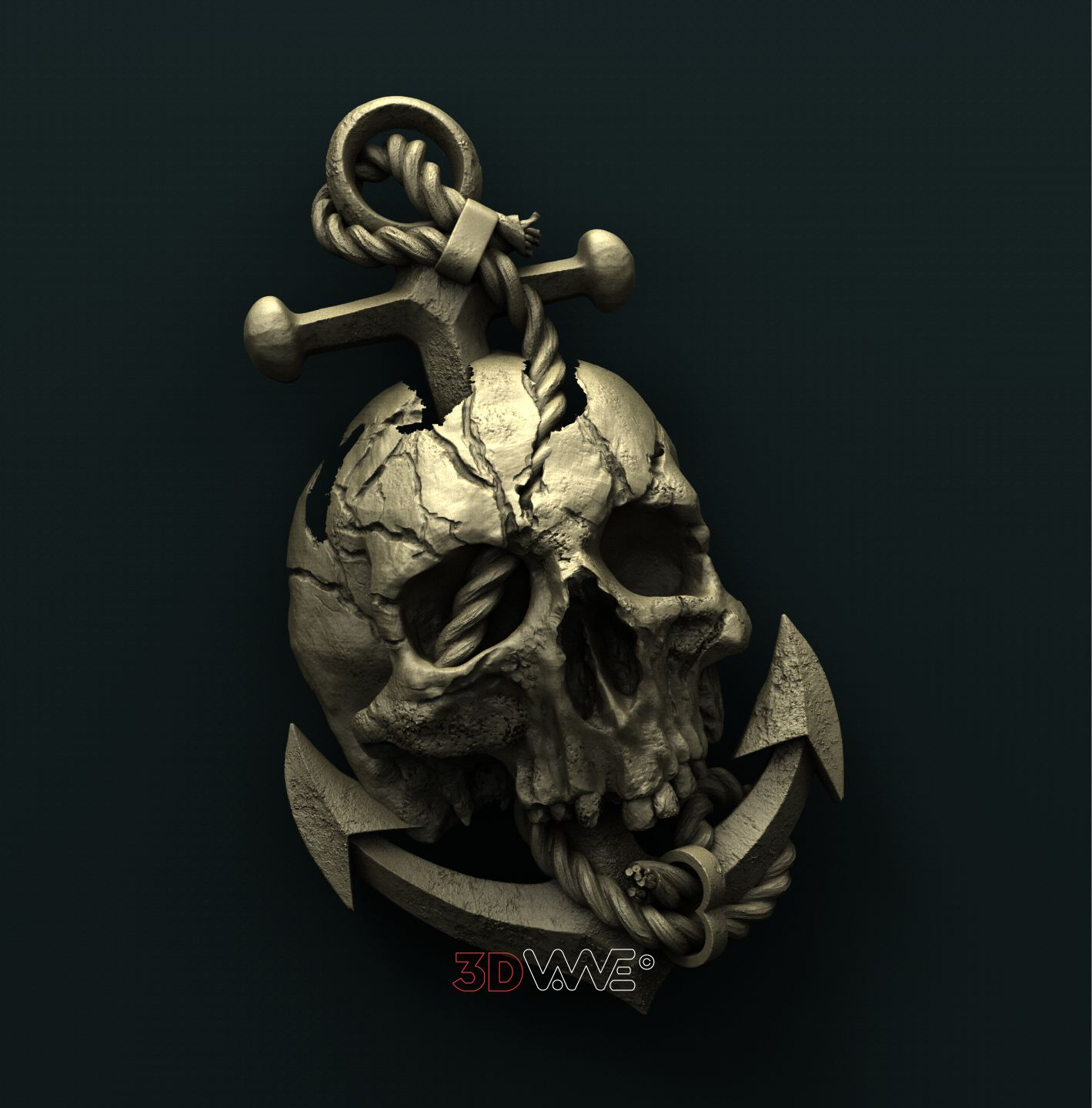 0782 Skull and Anchor
