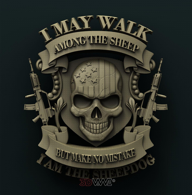 0813 Veteran USA Skull