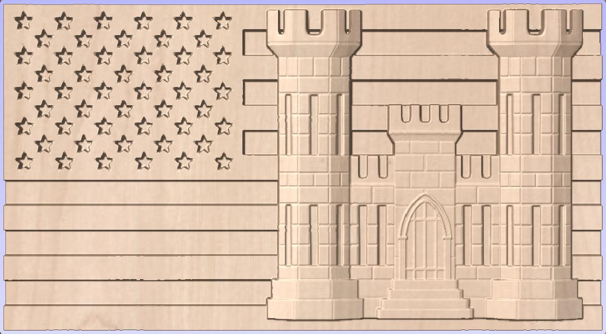 BH0001 Engineer's Castle Flag