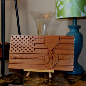 wooden American Flag sign, custom wooden signs in us